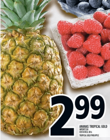 Ananas Tropical Gold grade 6 du 18 au 24 avril 2019