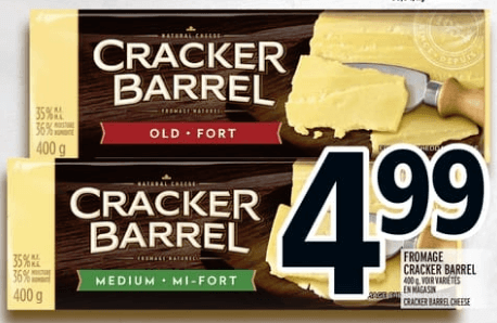 Fromage Cracker Barrel 400g du 18 au 24 avril 2019