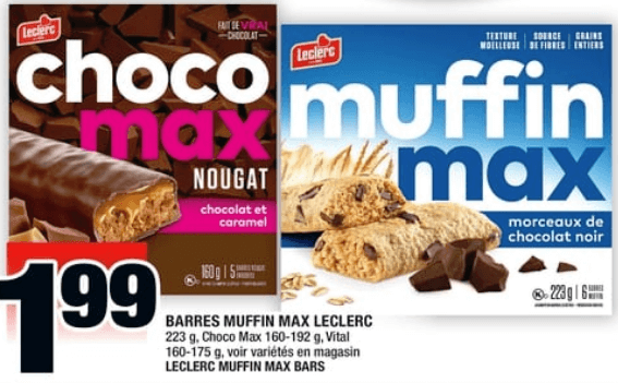 Barres Muffin Max Leclerc 18 au 24 avril 2019