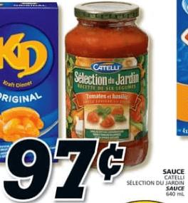 Sauce Catelli Sélection du Jardin 640 ml du 18 au 24 juillet 2019