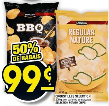 Croustilles Selection 200g du 18 au 24 juillet 2019