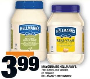 Mayonnaise Hellmann's 890 ml du 18 au 24 juillet 2019
