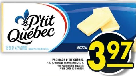 Fromage P'tit Québec 400g du 18 au 24 juillet 2019
