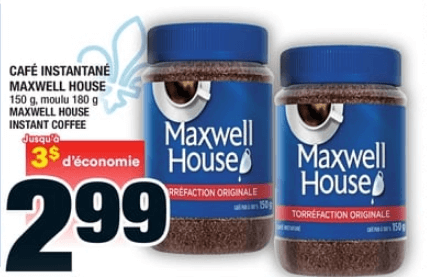 Café Instantané Maxwell House du 18 au 24 juin 2020