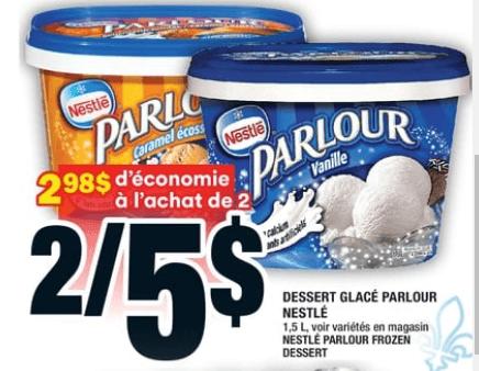 Dessert Glacé Parlour Nestlé du 18 au 24 juin 2020