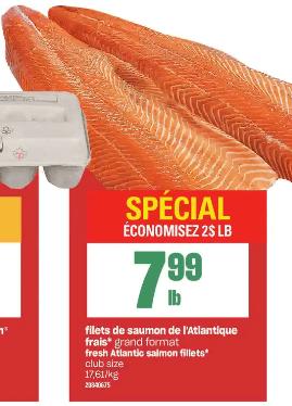 Filets de Saumon de L'atlantique Frais du 19 au 25 décembre 2019
