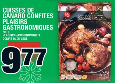Cuisses de Canard Confites Flaisirs Gastronomiques 500g du 19 au 25 décembre 2019