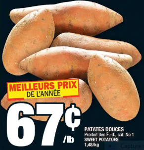 Patates Douces du 19 au 25 mars 2020