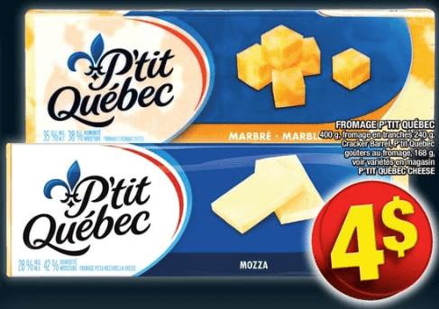 Fromage P'tit Québec | Fromage en Tranches | Cracker Barrel | Goûters au Fromage P'tit Québec du 19 au 25 septembre 2019