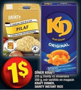 Dîner Kraft du 19 au 25 septembre 2019