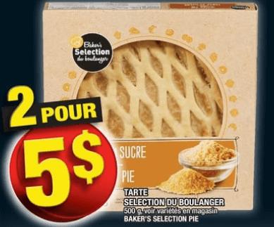 Tarte Selection du Boulanger 500g du 19 au 25 septembre 2019