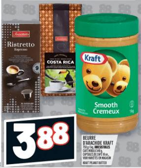 Beurre D'arachide Kraft du 2 au 8 janvier 2020