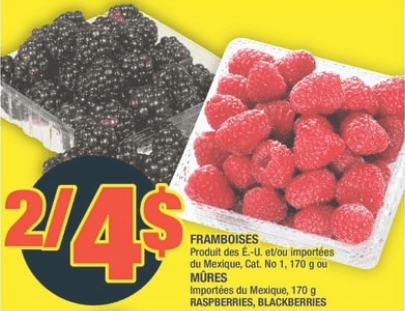 Framboises Mures du 2 au 8 juillet 2020