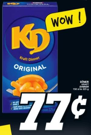 Dîner Kraft du 2 au 8 mai 2019