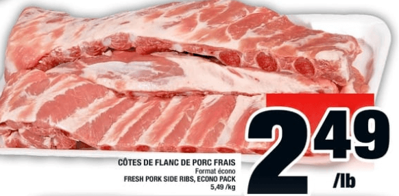 Côtes de Flanc de Porc Fraisdu 2 au 8 mai 2019
