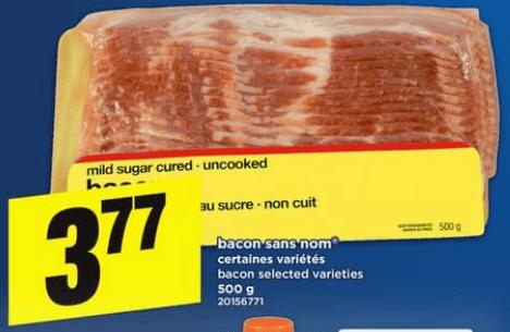 Bacon Sans Nom 500g du 20 au 26 juin 2019