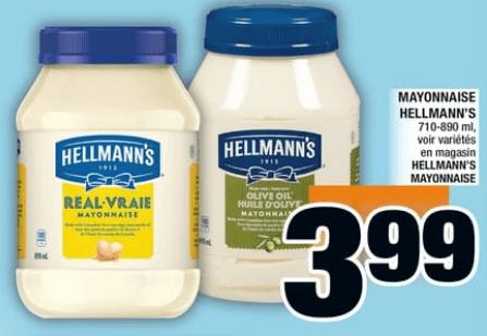 Mayonnaise Hellmann's 890 ml du 20 au 26 juin 2019