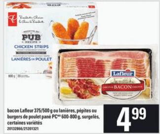 Bacon Lafleur 500g du 21 au 27 mai 2020