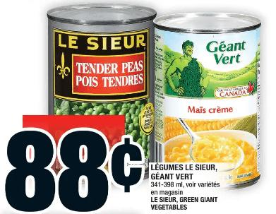 Légumes le Sieur, Géant Vert du 21 au 27 novembre 2019