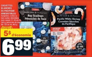 Crevettes Blanches du Pacifique Irresistibles du 23 au 29 juillet 2020