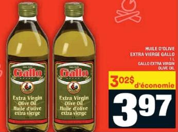 Huile D'olive Extra Vierge Gallo du 23 au 29 juillet 2020