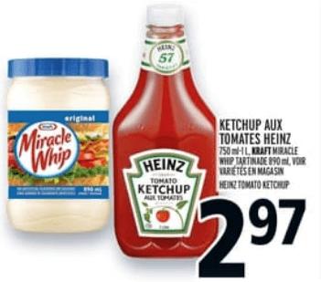 Ketchup aux Tomates Heinz 750 ml - 1L du 23 au 29 mai 2019