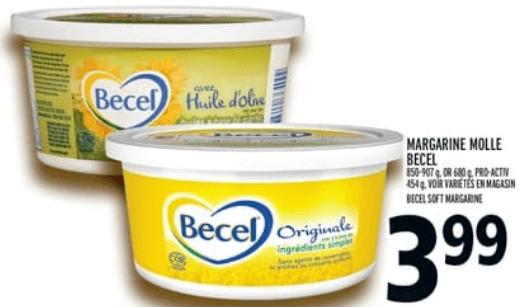 Margarine Molle Becel 907g du 23 au 29 mai 2019