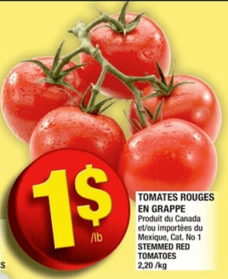 Tomates Rouges en Grappe du 23 au 29 mai 2019