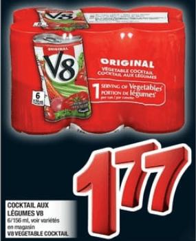 Cocktail aux Légumes V8 du 24 au 30 octobre 2019