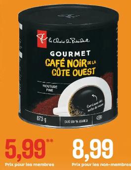 Café Gourmet Torréfié et Moulu Pc du 25 au 1 juillet 2020