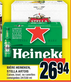 Bière Heinken, Stella Artois du 25 au 1 juillet 2020