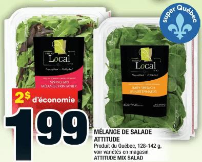 Mélange de Salade Attitude du 25 au 1 juillet 2020