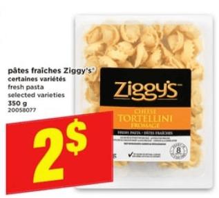Pâtes Fraîches Ziggy's 350g du 25 au 1 mai 2019