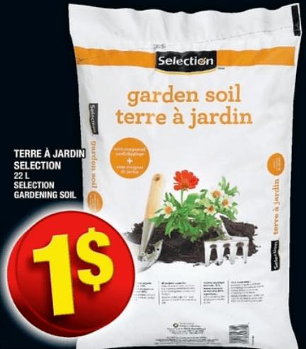 Terre à Jardin Selection 22L du 25 au 1 mai 2019