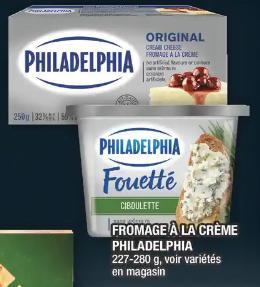 Fromage à la Crème Philadelphia du 26 au 1 avril 2020