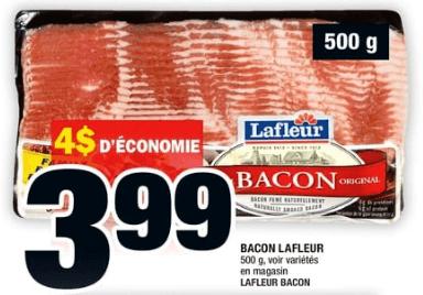 Bacon Lafleur 500gdu 27 au 3 juillet 2019