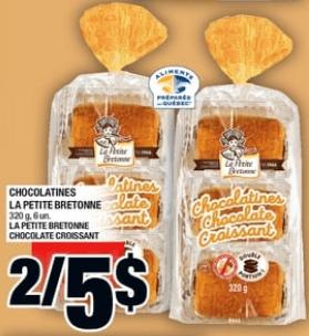 Chocolatines la Petite Bretonne 320g 6un du 27 au 3 juillet 2019