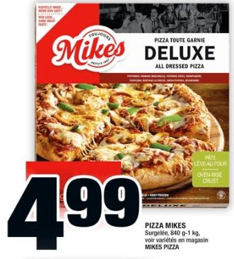 Pizza Mikes 840g - 1 kgdu 27 au 3 juillet 2019