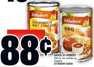 Sauce St-Hubert 398 ml du 27 au 3 juillet 2019