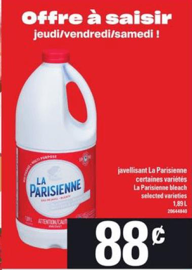 Javellisant la Parisienne du 28 au 3 juin 2020
