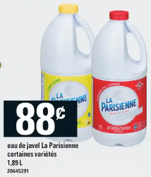 Eau de Javel la Parisienne 1,89 L du 28 au 4 décembre 2019
