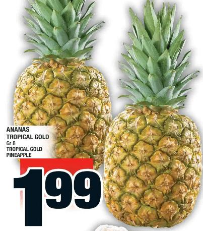 Ananas Tropical Gold du 28 au 4 décembre 2019