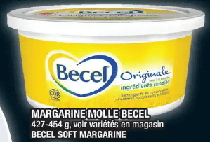 Margarine Molle Becel 454g du 28 au 4 décembre 2019