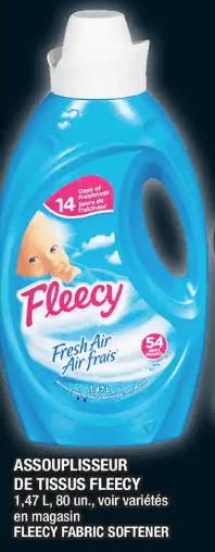 Assouplisseur de Tissus Fleecy 1,47 L du 28 au 4 décembre 2019