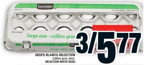 Oeufs Blancs Selection 12un du 28 au 4 décembre 2019
