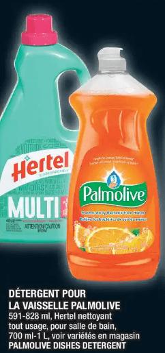 Détergent pour la Vaisselle Palmolive 825 ml du 28 au 4 décembre 2019