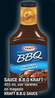 Sauce B.B.Q Kraft du 28 au 4 décembre 2019