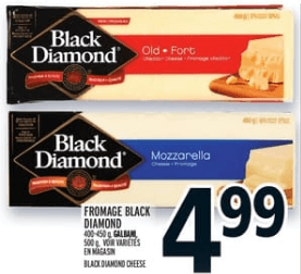 Fromage Black Diamond 400-460g du 29 au 4 septembre 2019