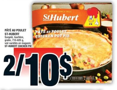 Pâté au Poulet St-Hubert 825g du 29 au 4 septembre 2019