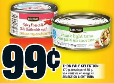 Thon Pâle Selection 85-170g du 3 au 9 octobre 2019